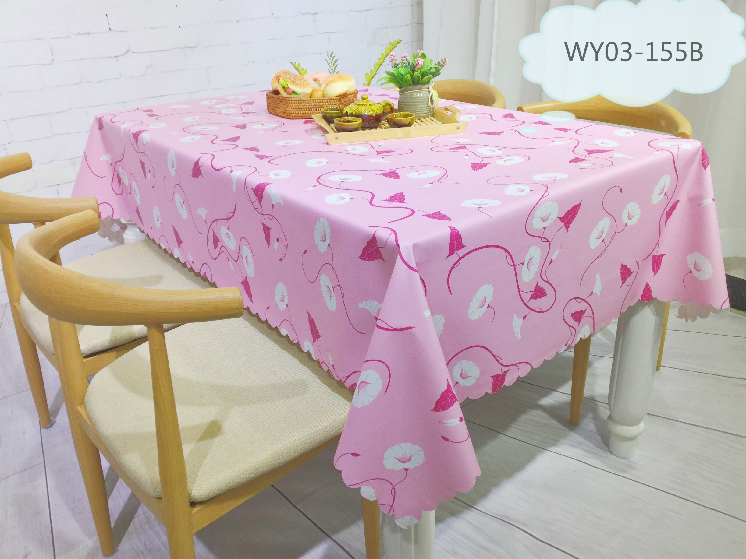 China manufacturer oilproof waterproof custom printed plastic tablecloth
