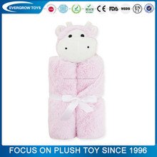 2016 hot bébé doux en peluche animal couverture