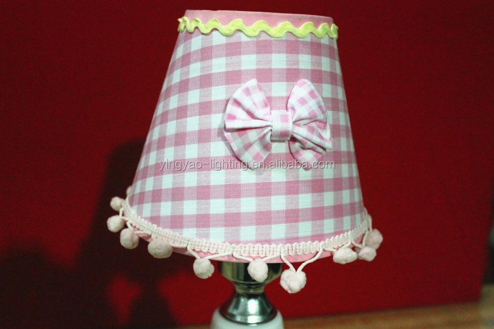 China Creativa Bowknot Rosado Pantallas de Lámparas de Tela Para ...
