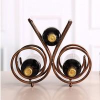 Bar accessories metal wire 3 bottle wine rack