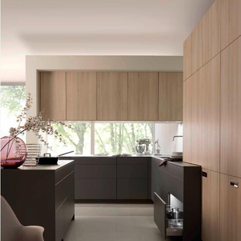 L Shape Kitchen In A Modern London Apartment Contemporary Kitchen London By Elan Kitchens