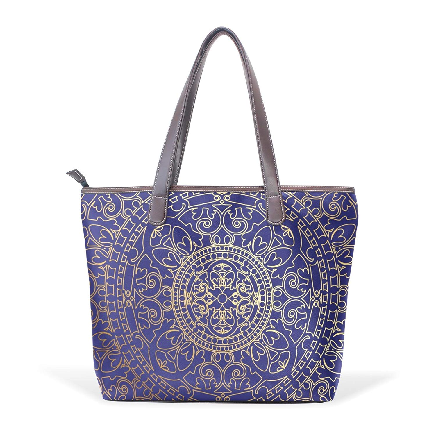 ... best price 63d3a bf9f0 Get Quotations · Dragon Sword Oriental Blue And  Gold Hippie Mandala Women ... a57f8fa380
