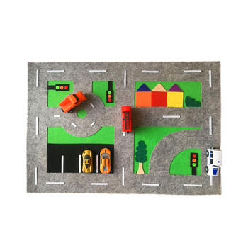 Creative Felt Car Play Mat for kids educational Toy