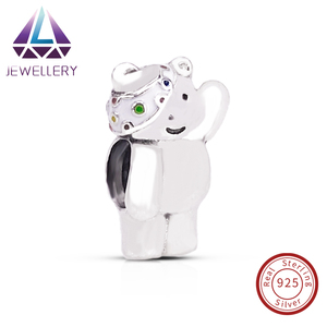925 Sterling Silver Beads Charms Vibrant Pudsey Bear Charm 2017 Limited Edition For Bracelets Charm