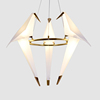 Intelligent homedecor lamp Paper Crane Chandelier for indoor decoration Modern design Parrot shaped birdie Pendant lamp