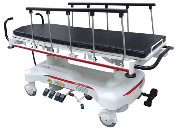 AC-ST006 electric hospital transport bed rise and fall function for emergency use wholesale