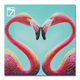 Flamingo Love Oil Painting on Canvas Ready to Hang Decorative Painting Wall Art for Decoration