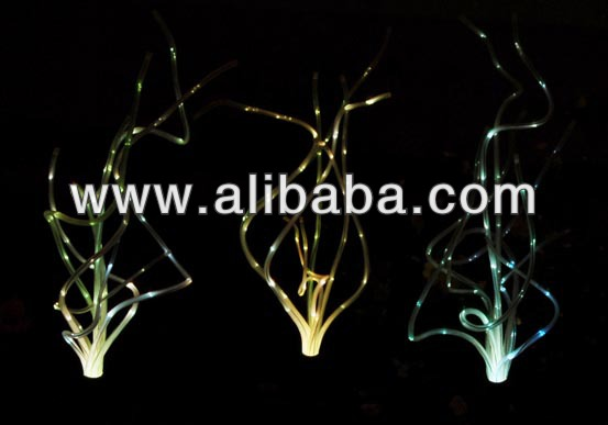 Solar Grass Fiber Optic Lights, Color Change