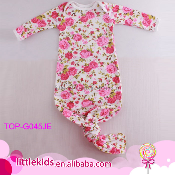 Floral Cotton Newborn Baby Sleep Gown Blank Boutique Wholesale Baby ...
