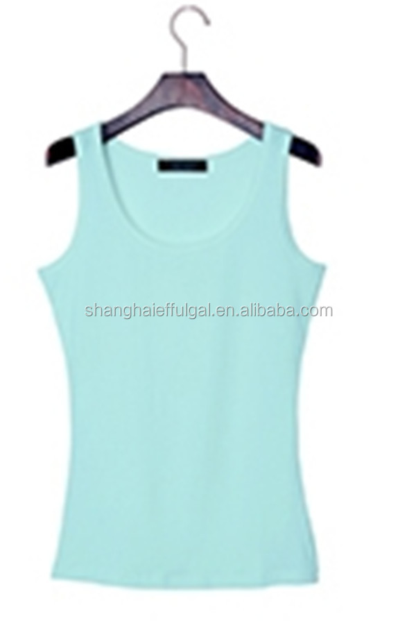 2015 cotton vest for ladies with quick dry and moisture transfer function