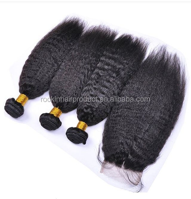 Wholesale Black Hair Products Brazil Kinky Straight Human Hair Extension