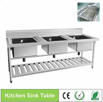 industrial kitchen sinks stainless steelthree compartment sink