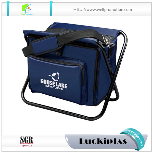 Wholesale Stable Outdoor Beach Fold Fishing Chair With Cooler Bag