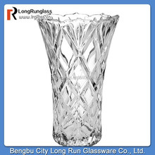 LongRun tempered glass new design glass vase for home decor machine glassware