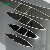 custom architectural used powder coated aluminum profile elliptical louver blades