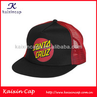 2012 hot printing black logo 5 panels polyester mesh trucker hat