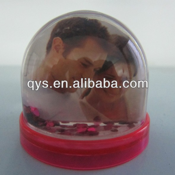 7.4*7.4*6.8cm photo snow globe