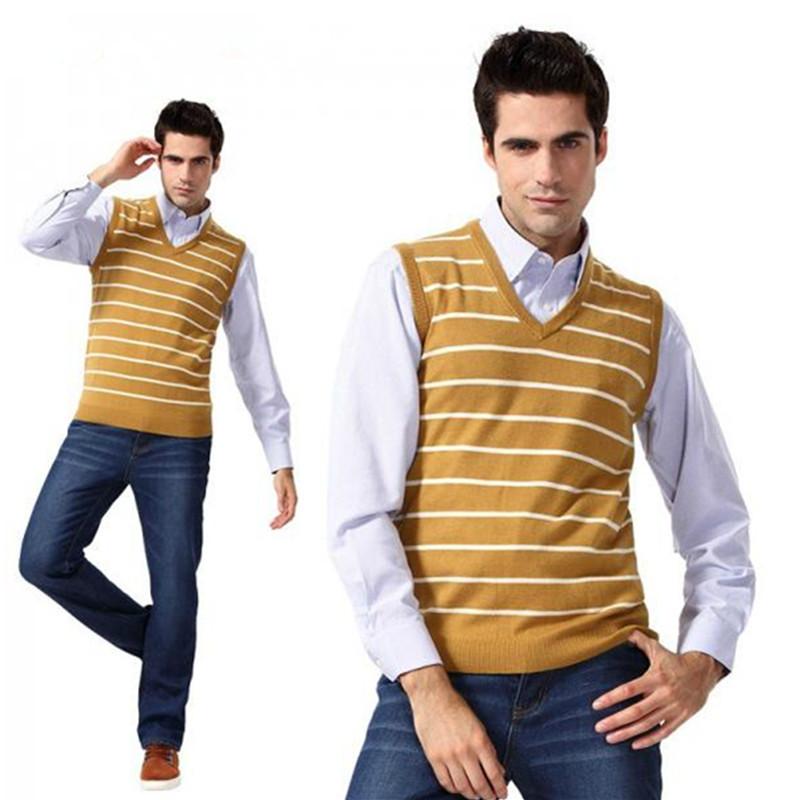 Compra Suéter de lana para hombre chalecos online al por