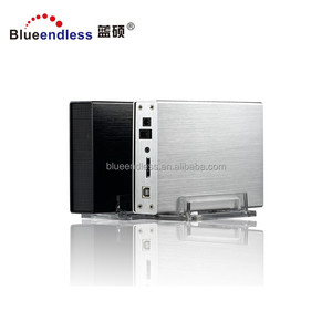 High quality aluminum hdd case 3.5 sata to usb 3.0 3.5 hdd mobile rack