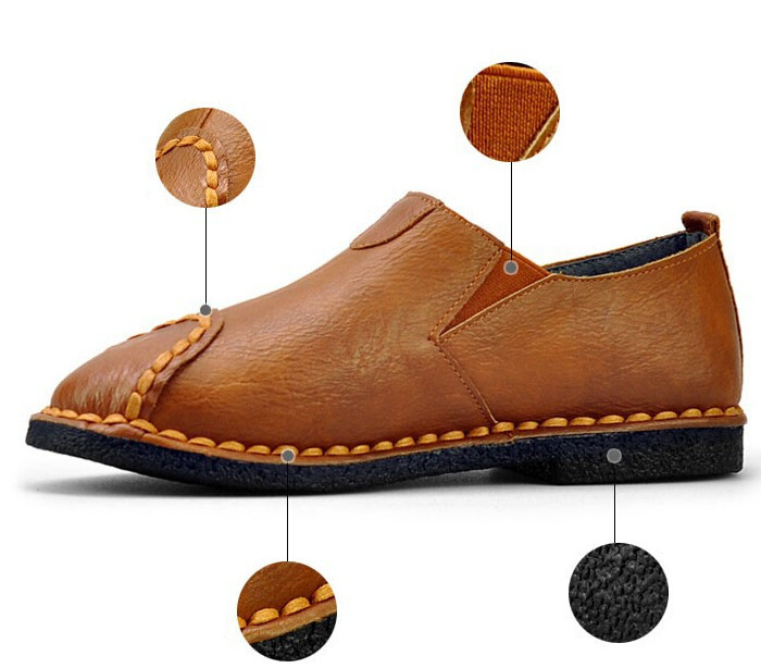 2015 brand Loafers shoes men genuine leather summer pedal shoes lazy male casual Moccasins men's flats. men lazy shoe