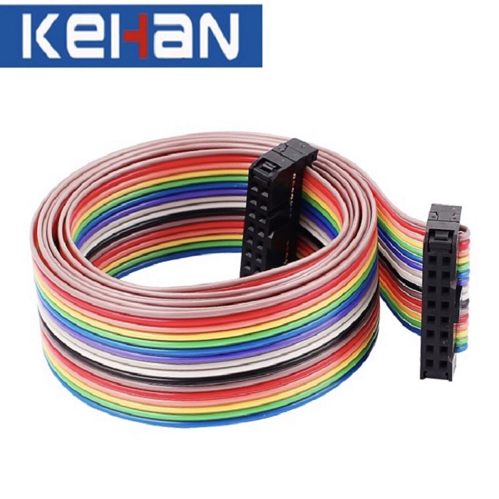 2.54mm Pitch 16Pin Rainbow Color Flat DVD Ribbon Cable