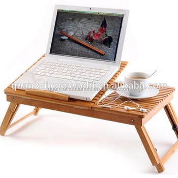 Bamboo Folding Computer Desk Bed Table Home Dining Table