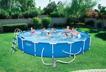 16ftx33in bestway 16 feet round steel pro frame pool indoor outdoor  swimming paddling pool, View bestway steel pro frame pool , bestway Product  ...