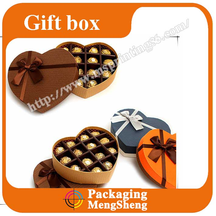 Cheap fancy gift box for choacalate manufaturer