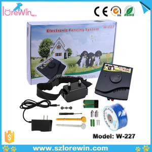 LoreWin W-227 Wireless Pet Dog Fence System , Vibra Shock Dog Anti Run Training Pet Fence Collar System Electric Fence