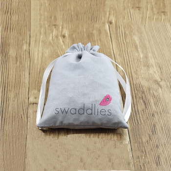 Custom LOGO Small Eco- friendly Jewelry Cotton String Bag For Gift Candy Packing Bag