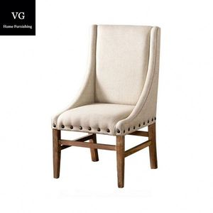 Hot deals custom cheapest French style wooden dining chair restaurant dining chair cloths chair