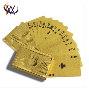 Good Quality New Design Full Set Gold Foil Poker Card
