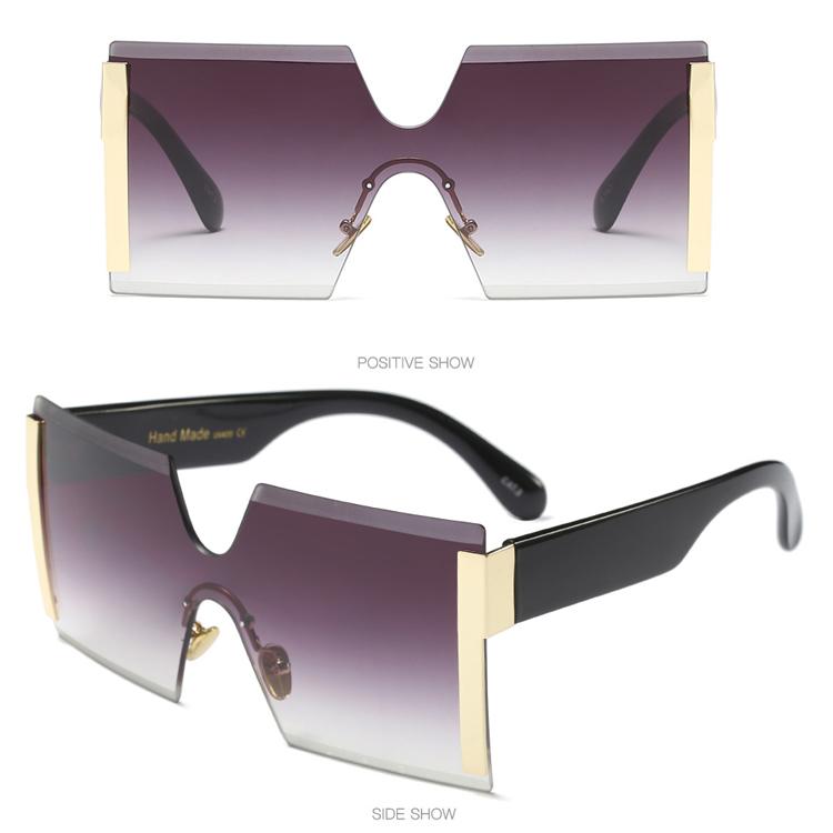 Desainer Wanita 1 Piece Kacamata Hitam Besar Persegi Besar Frame Square Kacamata  Fashion untuk Anak Perempuan b2853b4c6b