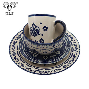 elegant wares Used 16 pcs Wholesale Dinnerware Set table set with blue and white flower