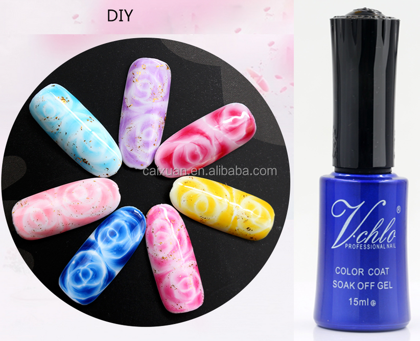 V.chlo brand private label soak off uv lamp gel 12 colours small collection blossom gel nail polish