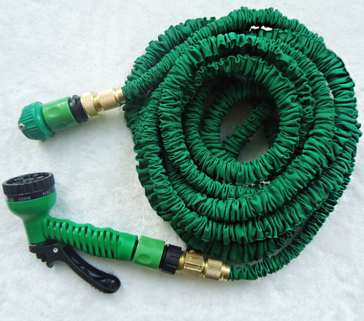 25ft/ 50ft/ 75ft/100ft Magic Garden Hose with Metal Fittings