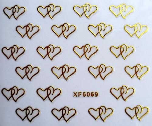 1 Sheet XFXF 3D gilded nail stickers affixed nail polish does not fade nail supplies wholesale