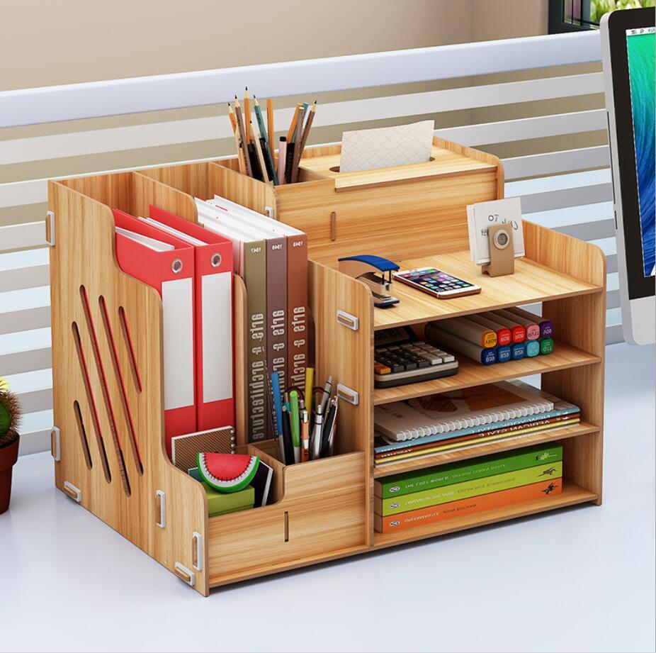 DIY Folder Book Stationery Office Desk Storage Organizer