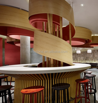 Superbe Professional White Marble Round Coffee Shop Bar Counter Furniture Table And  Chair