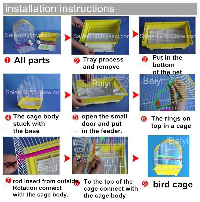 Venta al por mayor de amor de Metal pájaro jaulas para venta (muestra gratis rápido entrega)
