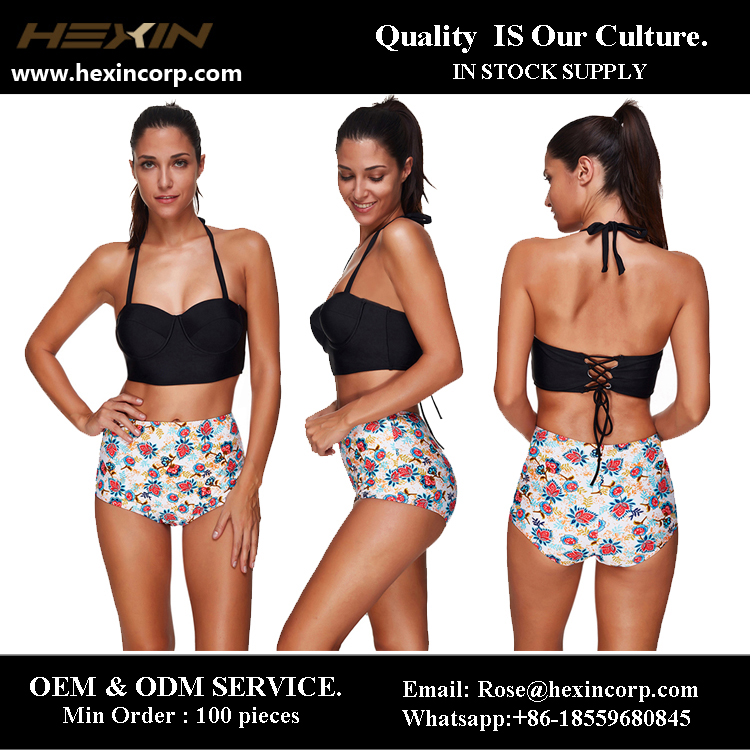 OEM&ODM Two Pieces Halter Printed Exotic Swimwear Brazilian Bikini