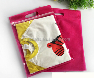 non woven fabric Clear plastic zipper clothes bag