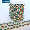 Factory Price Emerald Decorative Stone Rhinestone Appliques and Trims for Gloves