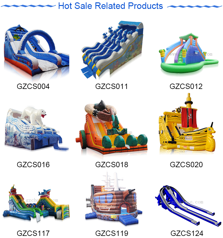 CE Certification Hot Selling Kids Play Inflatable Water Slide With Pool Inflatable Pool Slide