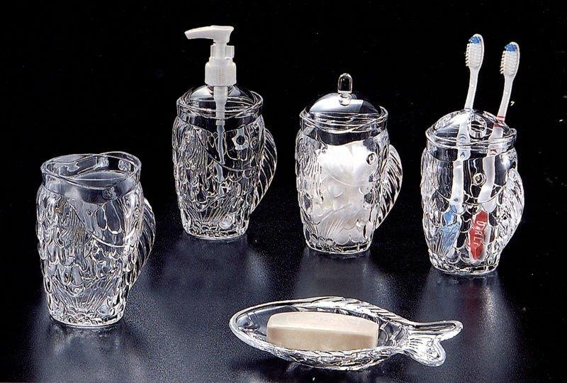 Clear Acrylic Bathroom Accessories Set