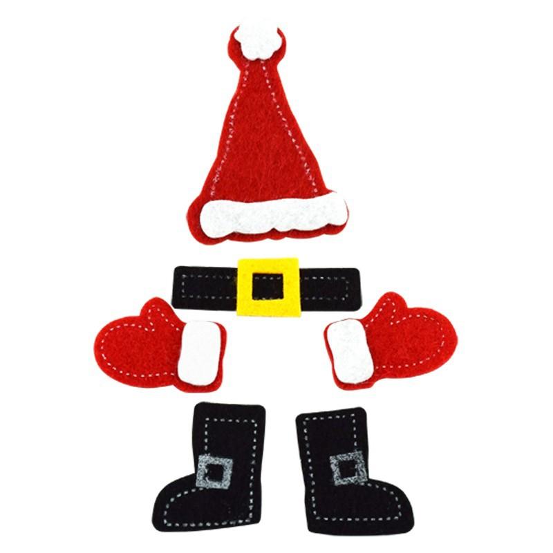 Weihnachtsfilz Sticker DIY Bastelzubehör, Geschenk und Bastelarbeiten für Kinder, handgefertigtes pädagogisches Weihnachtszubehör
