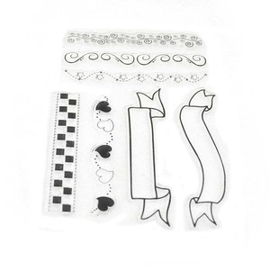 Wholesales DIY Craft Decoration Clear Custom Rubber Stamp