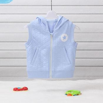 51ebed1002d3 Embroidery Cotton Knitted Baby Boys Hooded Waistcoat Vest For ...