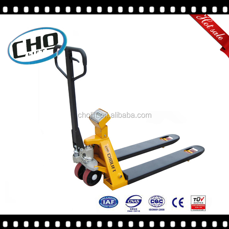 CE GS TUV Pallet Scale Truck, hydraulic trolley with Scale panel weighing scale