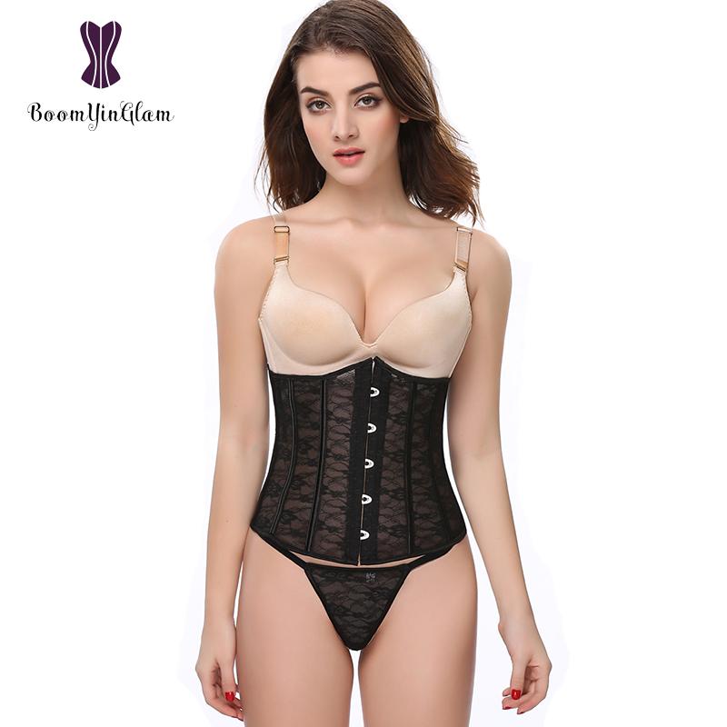 b72622272 High quality sexy open big breast lingerie lace underbust corset waist  cincher